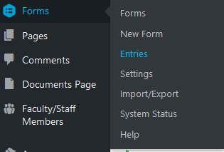 Path to get to a form's entries