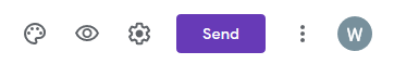 Send button to create embed code for Google Forms