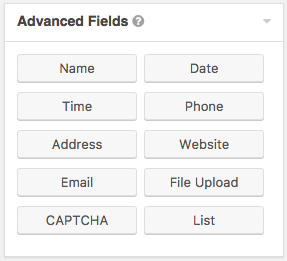 add captcha from advanced fields
