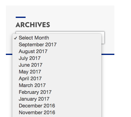 Archives drop down