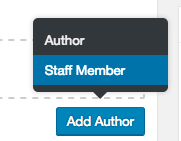 Add Staff Member or Add Author