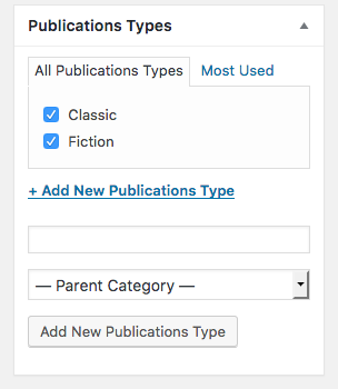 Adding publications types