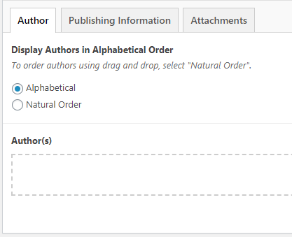 Author options