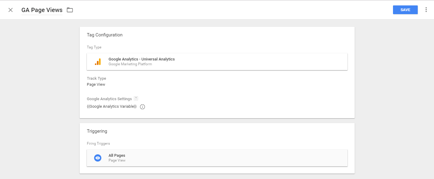 Completed Tag for Google Analytics