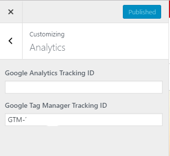 Place Tag Manager Tracking ID into WordPress site