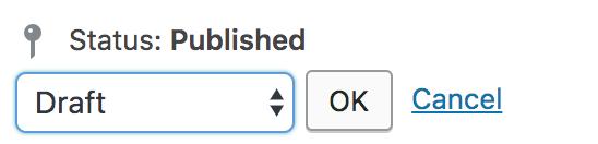 Publish dropdown option