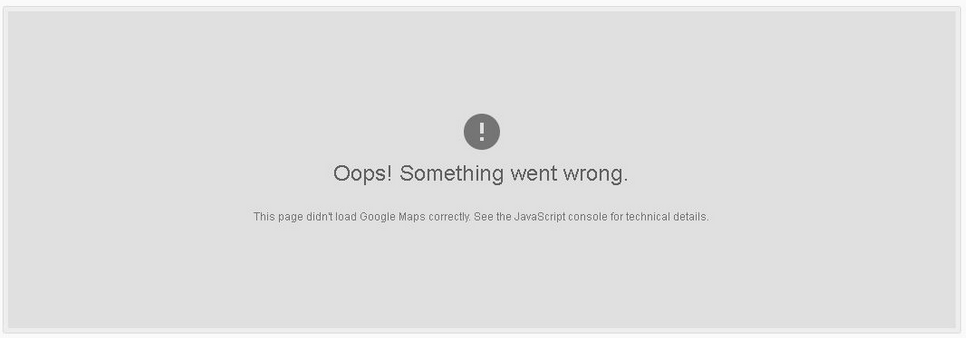 Oops! Something went wrong error message in WiscWeb