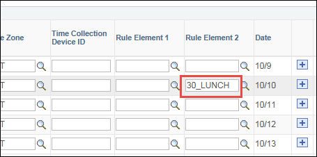 Punch Timesheet Auto Lunch Change