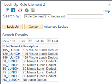 Lookup Rule Element 2