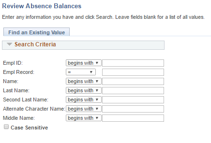 Review Absence Balances
