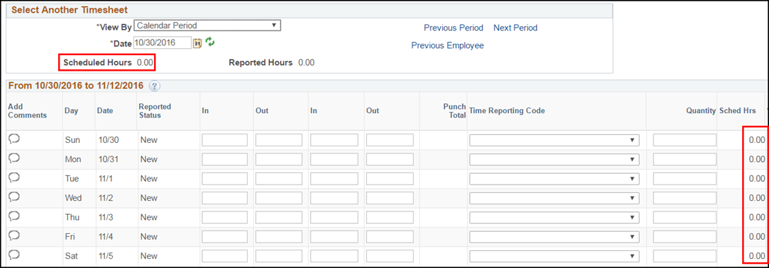 Manager Punch Timesheet Emp wo/Schedule