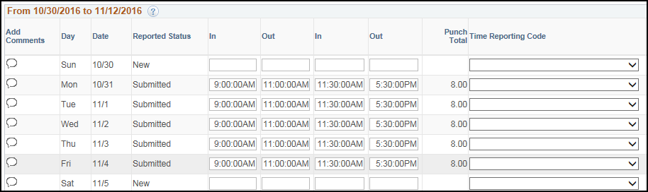 Manager Punch Timesheet Additional Shift