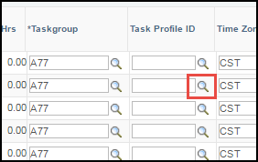 ESS Punch Timesheet Taskgroup ID Lookup