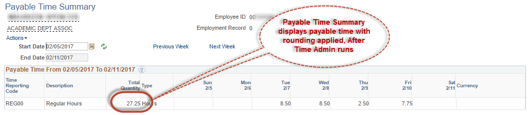 Payable Time Total