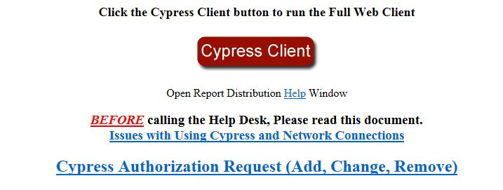 Cypress button on home page