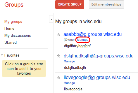Manage Google group
