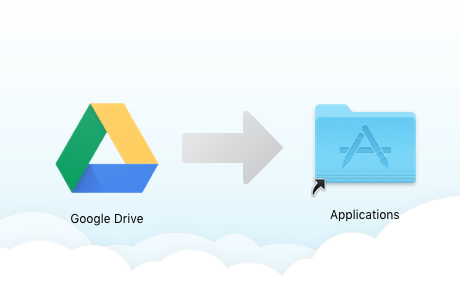 Drag Google icon into the Applications folder