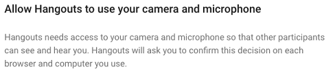 Allow Microphones and Video