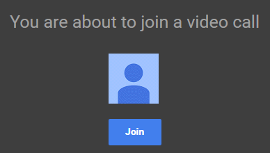 Hover over icons to see others in Hangout
