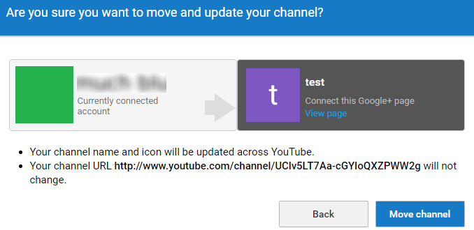 Confirm moving the channel