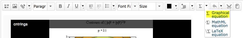 Graphical Equation Editor Screenshot