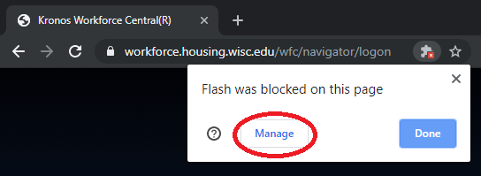 picture of the manage button