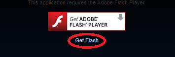 picture of where the get flash button is located