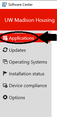 Make sure that you are in the applications tab