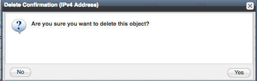 Click Yes to delete object.