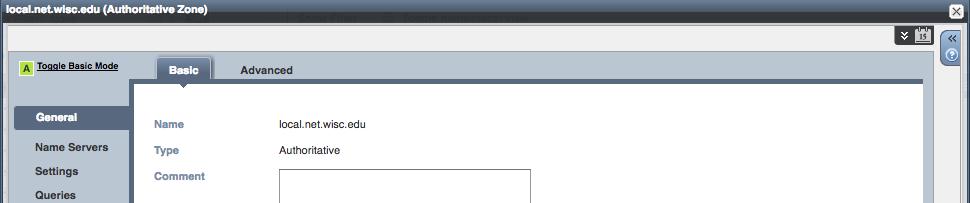 DNS zone scheduled change - click scheduled change icon
