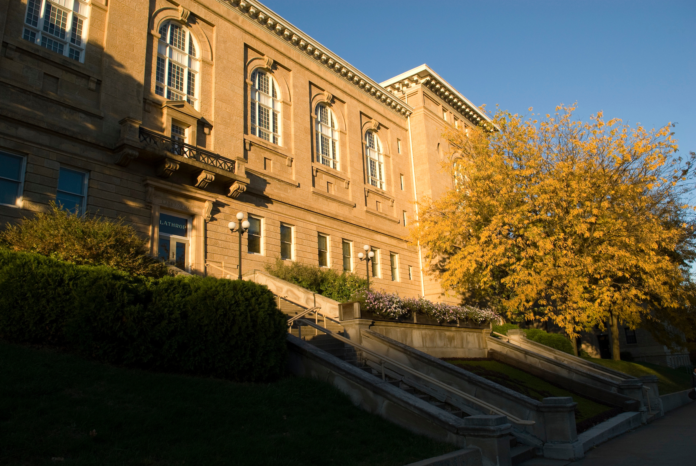 Lathrop Hall in autumn photo